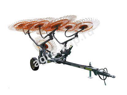 Грабли колесно-пальцевые H90V10/H90V12 прицепные